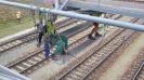 Zpřístupnění pracoviště pomocí lávky zavěšené nad kolejištěm