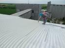 Bezvzduché stříkání střechy