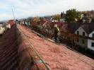 Střecha nesmí být pokryta souvislou vrstvou, jinak je nutné mech mechanicky odstranit