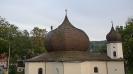 Nátěr šindelové střechy - kostel Železná Ruda