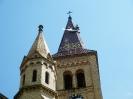 Práce na věži kostela na Hosíně