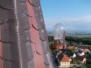 Oprava těsnosti nároží střechy kostela