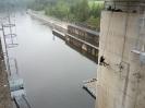 Kotvení závěsného lešení v přelivu přehrady